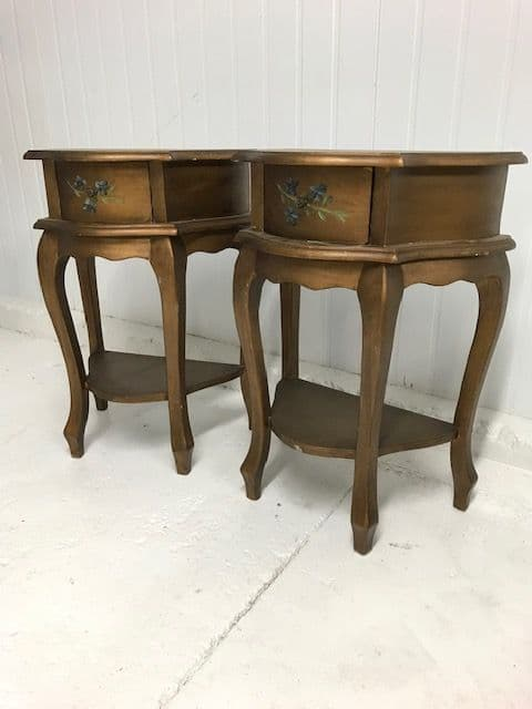 sold -Pair of  French Bedside Cabinets -  b82